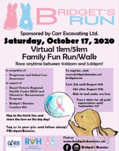 Bridget's run poster
